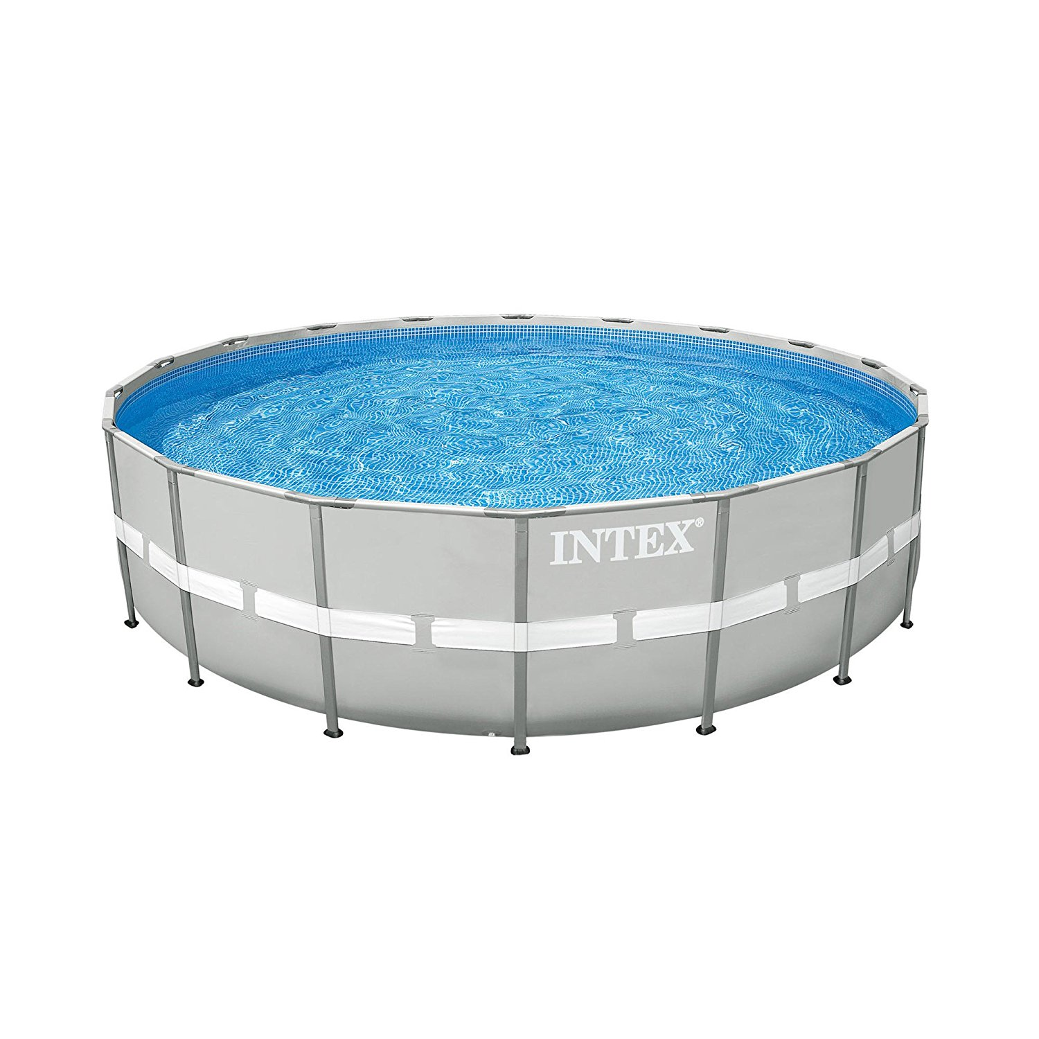 """Intex 24' x 52"""" Steel Ultra Frame Round Above Ground Swimming Pool Set with Pump"""