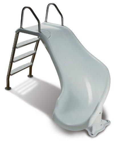 Inter Fab Zm Cr Ss Water Pool Slide Zoomerang White Salt