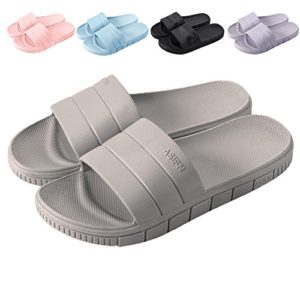 17KM Bath Slipper Women Men Non-Slip Open Toe Shower Sandals Indoor Outdoor Soft Flat Slide Sandals Slippers